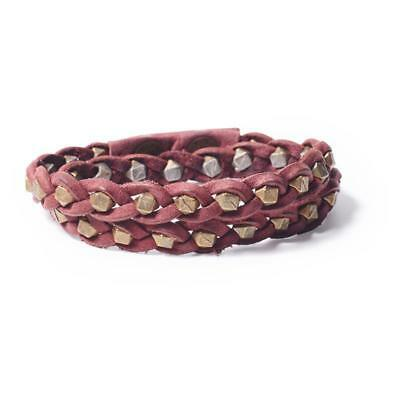 AU19.60 • Buy Noosa Amsterdam Bracelet Wealth Charm Necklace Luck Jewelry Ladies Red Leather