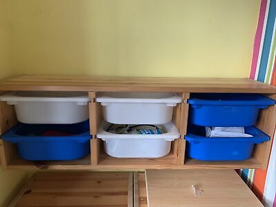 Trofast IKEA Wooden Wall Storage Unit- With Buckets • 15£
