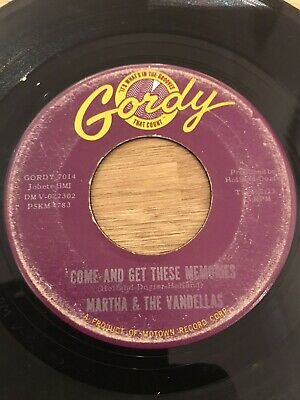 Martha Reeves & The Vandellas Come And Get These Memories Gordy Northern Soul • 2.99£