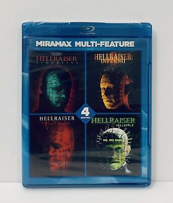 HELLRAISER / 4 Film Collection Blu-ray - Factory Sealed • 21.26£