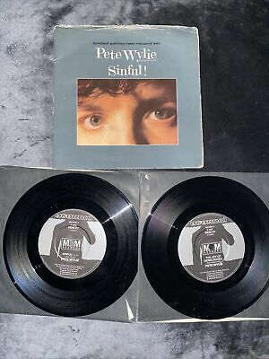 £3.99 • Buy Pete Wylie – Sinful! - 2 X 7  Vinyl Record