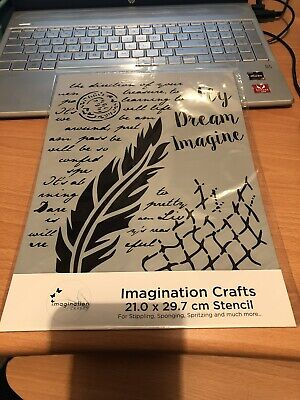 A4 Stencil Mask Imagination Crafts Fly And Dream • 6£