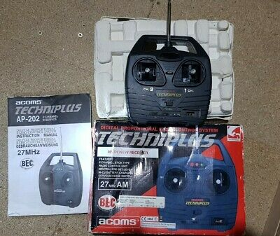 Acoms Techniplus AP-202 27MHz 2 Channel Radio Controller Transmitter Crystal • 25£