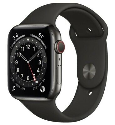 $ CDN885.85 • Buy Apple Watch Series 6 44mm Graphite Stainless Steel Case With Black Sport Band