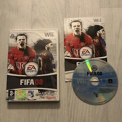 FIFA 08 (Nintendo Wii, 2007) Complete, Good Condition Disc • 1.95£