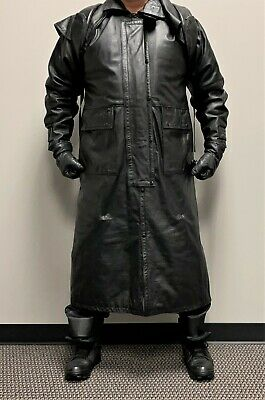 $149 • Buy First Leather Black Leather Duster Coat - 8 Pounds Of Leather!  Mint Condition