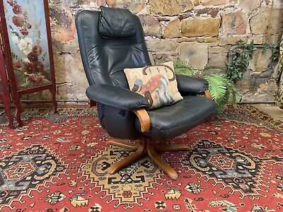 AU69 • Buy Mid Century Artiflex Leather  Recliner Armchair~Lounge Chair~Swivel~Tessa,Eames