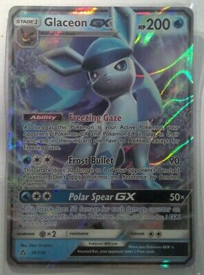 AU5.50 • Buy Pokemon Card Glaceon GX 39/156 Ultra Prism Ultra Rare Card