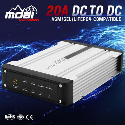 AU169.99 • Buy MOBI 20A DC To DC Battery Charger MPPT 12V Dual Battery System 4WD Boat Caravan