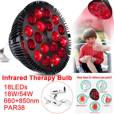 Therapy-Lamp Skin-Care Infrared-Light LED For Pain-Relief Combo Health-Care • 30.81£