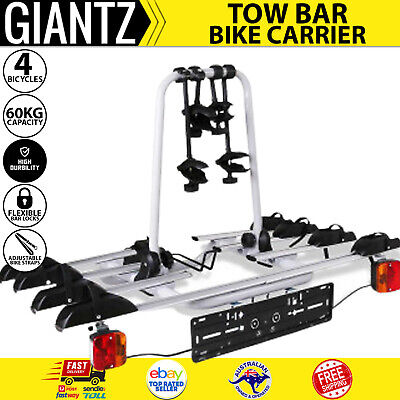 AU239.77 • Buy 4 Bicycle Tow Bar Bike Carrier Steel Frame Car Bicycle Rack With Tow Ball Mount