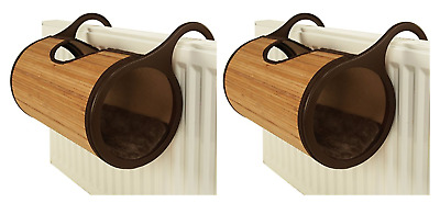 £40.99 • Buy Rosewood Cat Radiator Bed Hanging Bamboo Basket Tunnel Tube With Cushion X 2