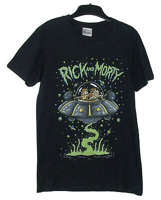 Rick And Morty T Shirt Black Graphic T-Shirt Small Space Ship Worn Once • 8.99£