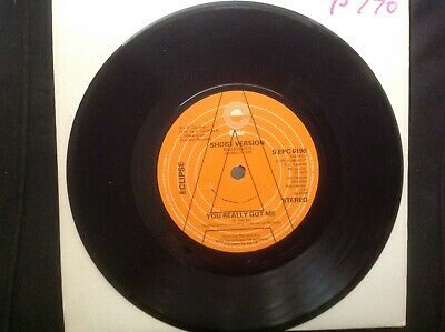Eclipse, You Really Got Me. Promo, Mint. Epic1977. Kinks Cover, Electronic Disco • 2.99£