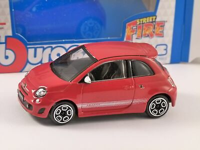 FIAT ABARTH 500 In Red - 1/43 Scale Model By Burago • 9.99£