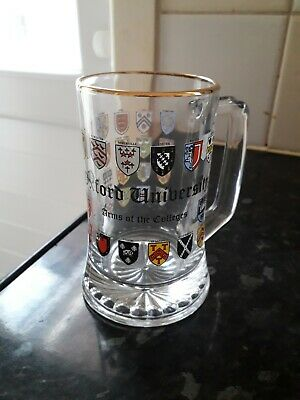 Oxford University Arms Of The Colleges Half Pint Glass • 9.99£