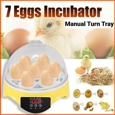 AU13.99 • Buy 7 Egg Automatic Incubator Fully Digital Turning Chicken Duck Poultry Hatcher AU