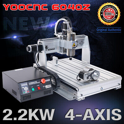 $1974 • Buy 【USA】2.2KW 4 Axis 6040 USB Mach3 CNC Engraving Drilling Mill Router Machine 110V