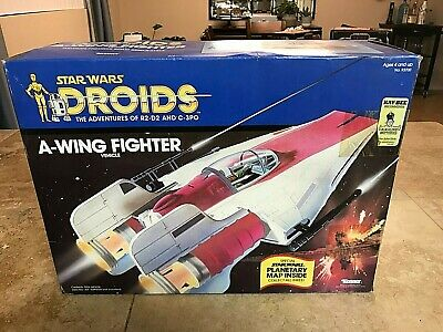 $ CDN809.25 • Buy Vintage Star Wars A-Wing Fighter 1984 Droids Complete See Pictures & Description