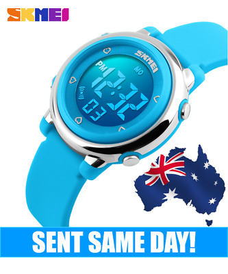 AU14.99 • Buy Kids Boys Sport Colourful Watch Waterproof 50m Skmei Digital Water Resistant