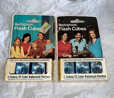 $7.99 • Buy 2 Boxes Of 5 Vintage Westinghouse Flash Cubes For Camera 12 Color Balanced Flash