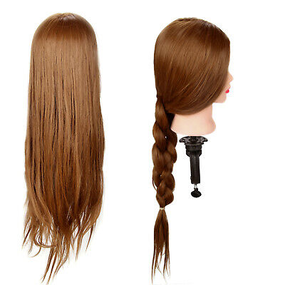 26  Salon Hair Styling Training Head Hairdressing Styling Mannequin Doll &Clamp • 12.39£