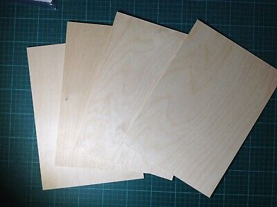 Birch Faced Plywood 4 Sheets A4 Laser And Pyrography Etc • 4£