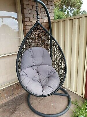 AU285 • Buy Egg Chair With Two Cushions And Stand RRP$499