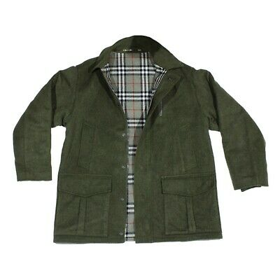 Mens Shooting Coat Wool Alpaca Quilted Green Jacket ELCH BAUR LODEN TIROL Size56 • 66£