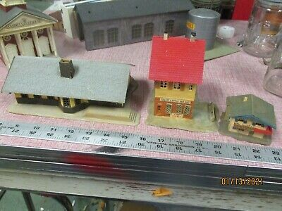 $ CDN25.89 • Buy Mixed Lot Of  6 Vintage HO Scale Model Train Railroad Accessory Building