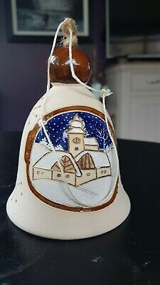 Pottery Christmas Bell • 3£