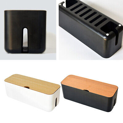 £10.52 • Buy Cable Wire Management Box Dustproof Charger Hide Tidy Cover Tray Organiser