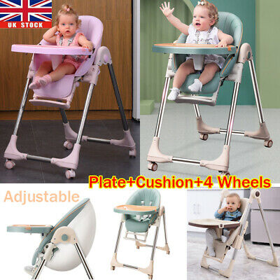 Adjustable Foldable Baby Highchair Infant High Feeding Seat Toddler Table Chair • 36£