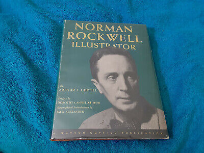 $ CDN574.09 • Buy Norman Rockwell Autographed Hard Illustrator Cover  Book JSA Certified