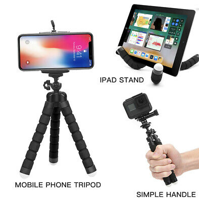 Universal Mini Flexible Sponge Tripod For IPhone Samsung Mobile Phone GoPro • 4.99£