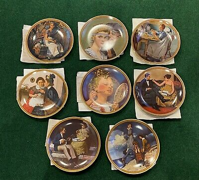 $ CDN51.04 • Buy Set Of 8 Norman Rockwell Knowles Rediscovered Women Collection Plates With Certs
