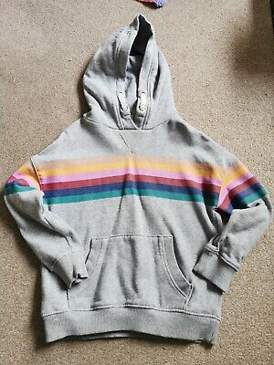 Next Girls Rainbow Hoodie Age 5 • 0.99£