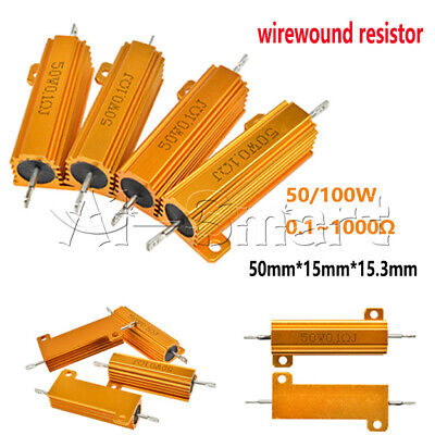 $1.91 • Buy 50/100W 0.1-1000Ω Ohm Watt Shell Power Aluminum Housed Case Wirewound Resistor