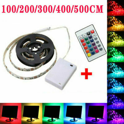 LED Strip Light Battery Powered Operated 5050 RGB Color Changing Tape Lighting • 5.59£