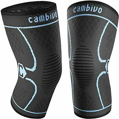 $15.98 • Buy CAMBIVO 2 Pack Knee Brace, Knee Compression Sleeve Support For Men And Women, Ru