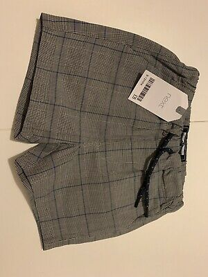 Next Baby Boy Checked Grey Shorts New With Tags • 1.50£
