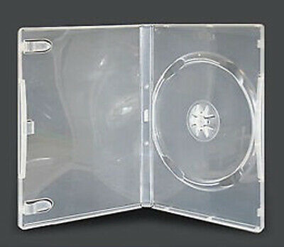 AU3.30 • Buy CD DVD Blu-Ray Plastic Jewel Case Clear Single 14mm Spine Holds 1 Disc