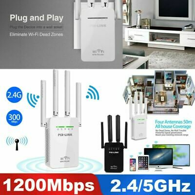 1200Mbps WiFi Range Extender Repeater Wireless Amplifier Router Signal Booster • 12.86£
