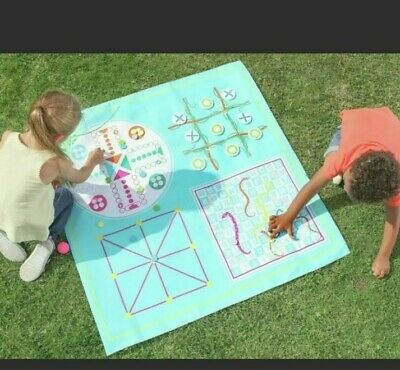 Party Animal 4 In 1 Games Picnic Blanket Mat,garden,board Games,Outdoor Playtime • 9.99£