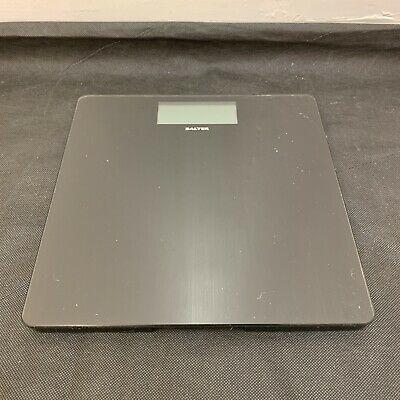 Salter Black Electronic Weighing Scales Body Stand On Battery Operated W32xL32cm • 15.99£