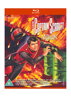 Captain Scarlet And The Mysterons Volume 4 Blu-ray - New & Sealed • 9.99£