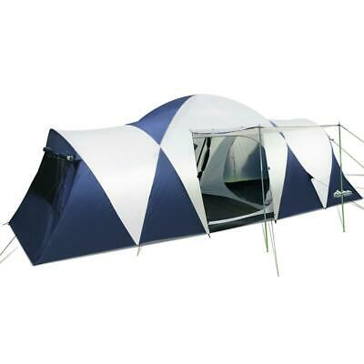AU300 • Buy Weisshorn Family Camping Tent 12 Person Hiking Beach Tents Canvas (3 Rooms)
