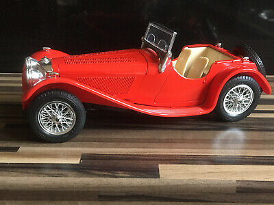 1937 JAGUAR SS100 By BURAGO - DIECAST MODEL 1:18 SCALE Red • 4.99£