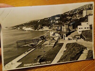 Vintage Postcard Ventnor Isle Of Wight Looking West Real Photo Posted 1952  • 0.99£