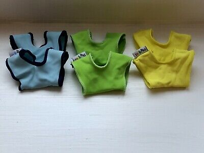 SOCK ONS 0-6 Months X3 Pairs Unisex Colours Blue Green Yellow Sock Savers • 3.20£
